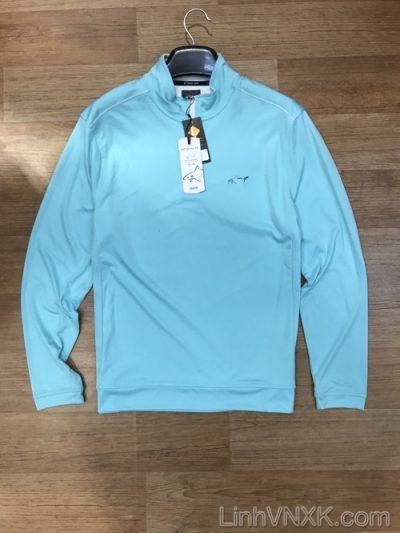 Áo thun Golf nửa khóa Greg Norman xanh ngọc