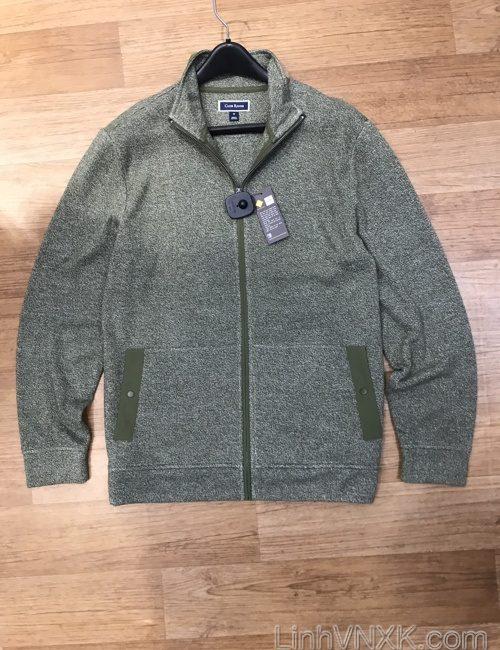 Áo khoác len nỉ Clubroom màu rêu