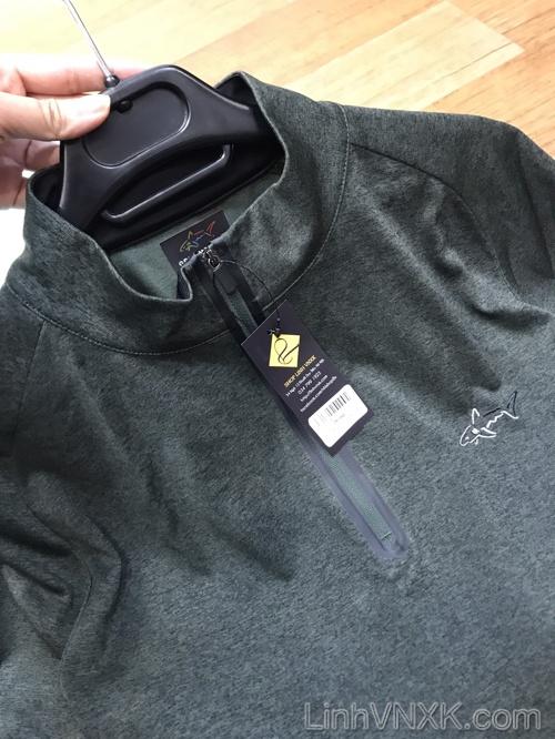 Áo thun Golf nửa khóa Greg Norman màu rêu