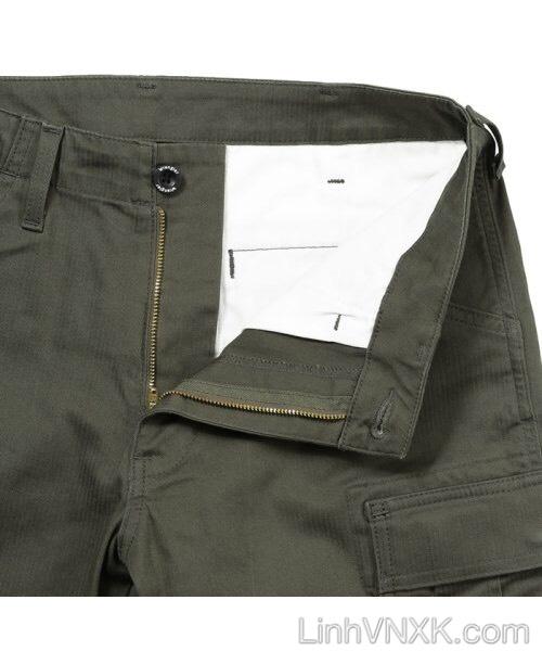 Quần kaki túi hộp xanh rêu Wrangler