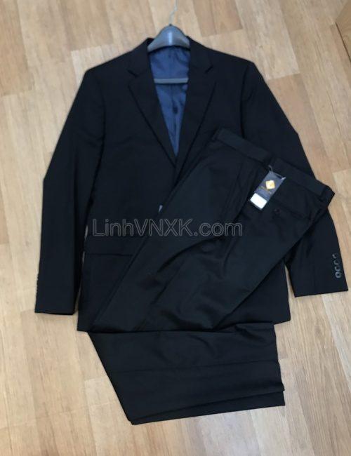 Bộ vest nam xuất khẩu màu đen size to