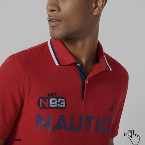 Áo polo nam Nautica đỏ logo viền cổ