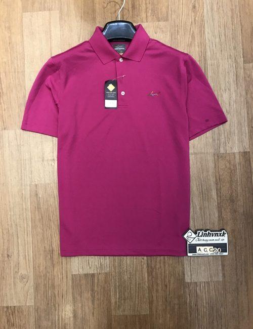 áo polo thể thao golf cá mập màu hồng 10 giờ