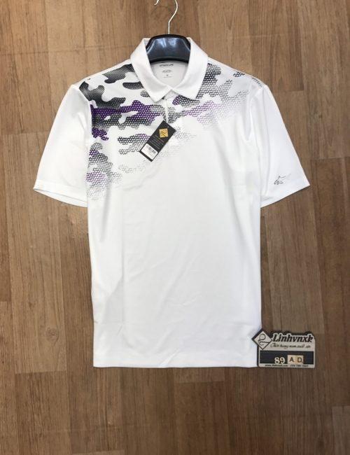 áo polo thể thao golf cá mập màu trắng phối