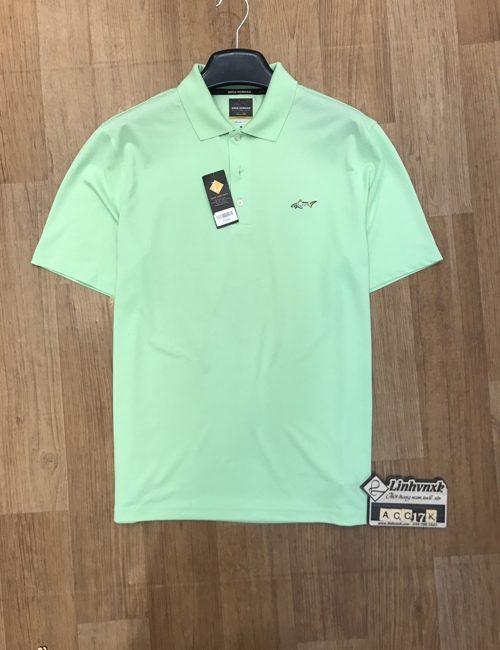 áo polo thể thao golf cá mập màu xanh cốm