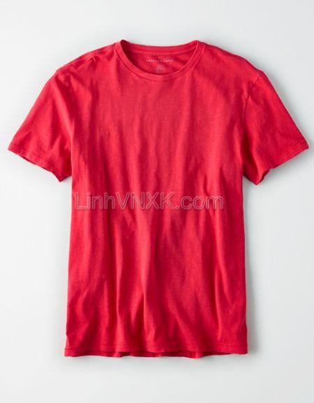Áo thun nam cotton cổ tròn AE màu đỏ