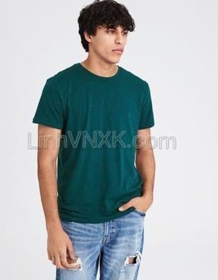 Áo thun nam cotton cổ tròn AE xanh lục