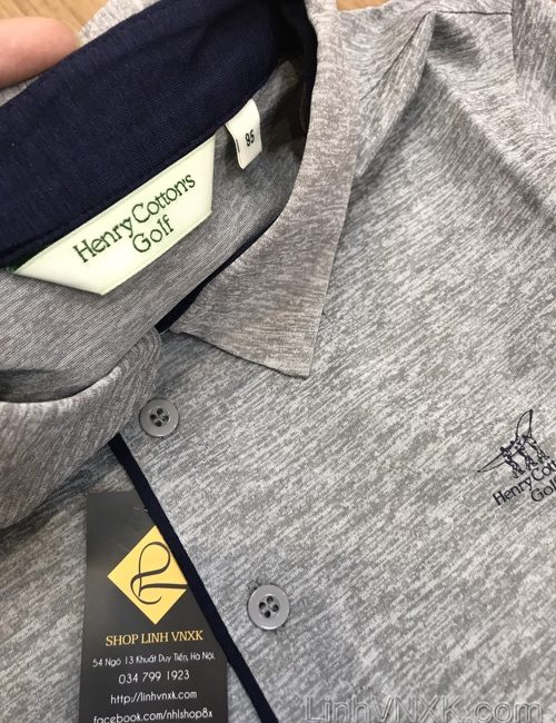 Áo polo golf thể thao Henrry màu ghi