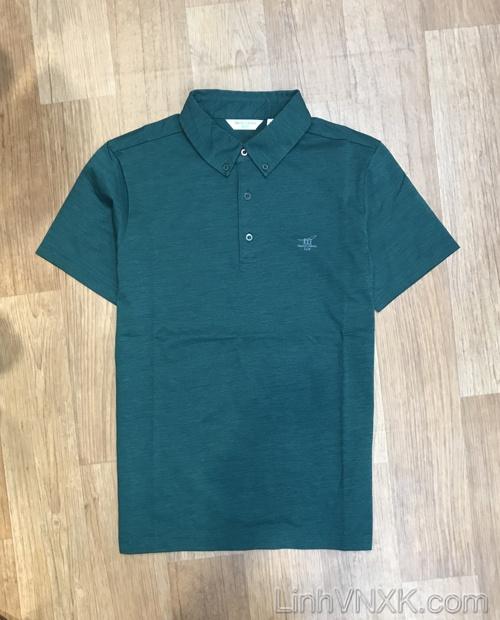 Áo polo golf thể thao Henry màu xanh lá cây