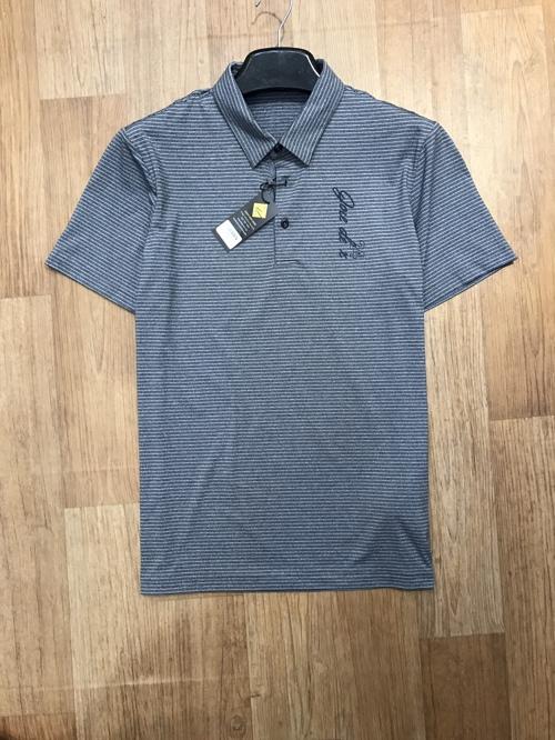 áo thun polo golf jdx màu kẻ ghi đậm