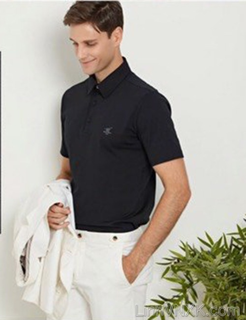 Áo polo golf thể thao Henry màu đen