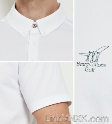 Áo polo golf thể thao Henry màu trắng