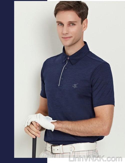 Áo polo golf thể thao Henry xanh navy