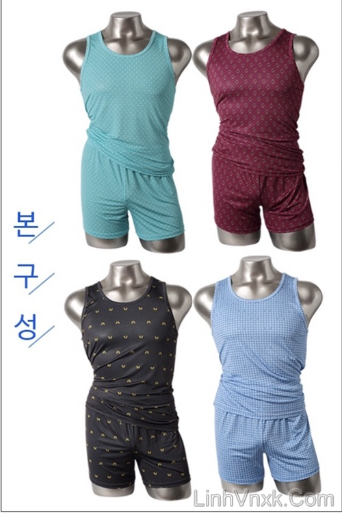 Bộ đồ lót ngủ nam xuất khẩu Hàn Quốc