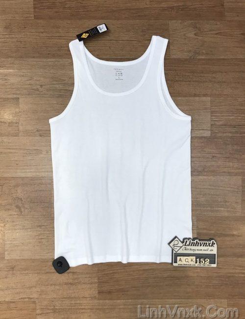 áo ba lỗ trắng nam xuất khẩu