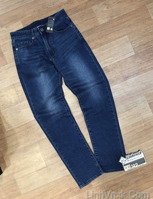 Quần jean nam slim fit xuất khẩu xanh mài