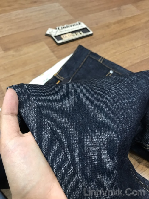 Quần jean nam ống đứng xanh đậm