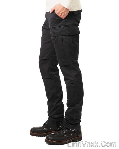 Quần kaki túi hộp xuất khẩu Avirex màu đen