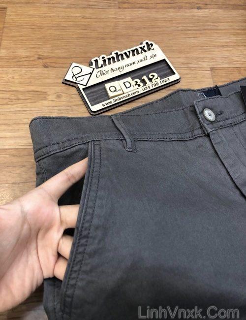 quần kaki nam túi chéo slimfit co giãn xuất khẩu