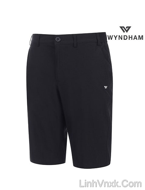 Quần short golf WyndHam xuất khẩu màu đen
