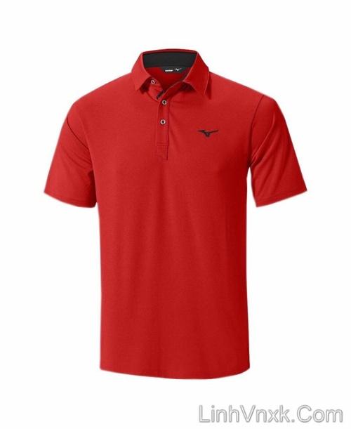 Áo thun polo golf Mizuno màu đỏ