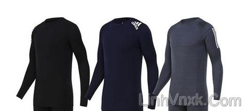 Áo thun dài tay thể thao Adidas giữ nhiệt