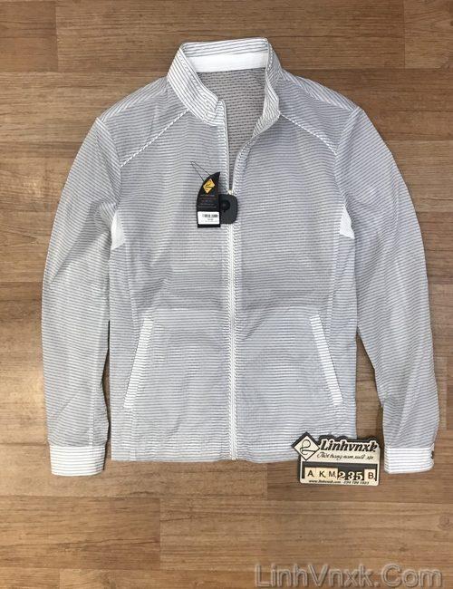 Áo khoác gió 1 lớp Crocodile màu trắng