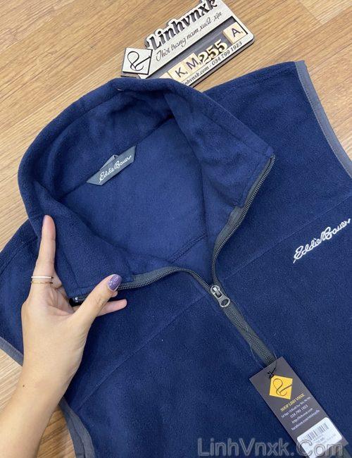 Áo gile nỉ siêu nhẹ giữ nhiệt xanh navy
