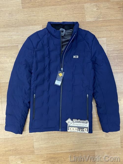 Áo khoác lông vũ K2 xanh navy sáng