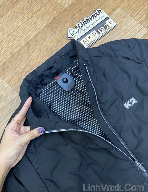 Áo khoác lông vũ K2 màu đen