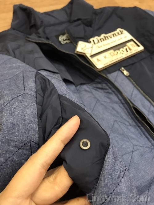 Áo khoác trần bông Crocodile xanh navy