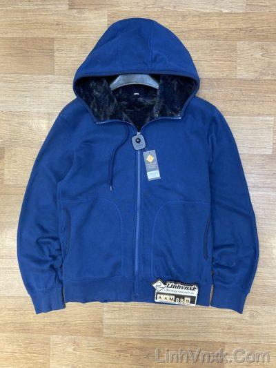 Áo khoác nỉ lót lông cừu xanh blue