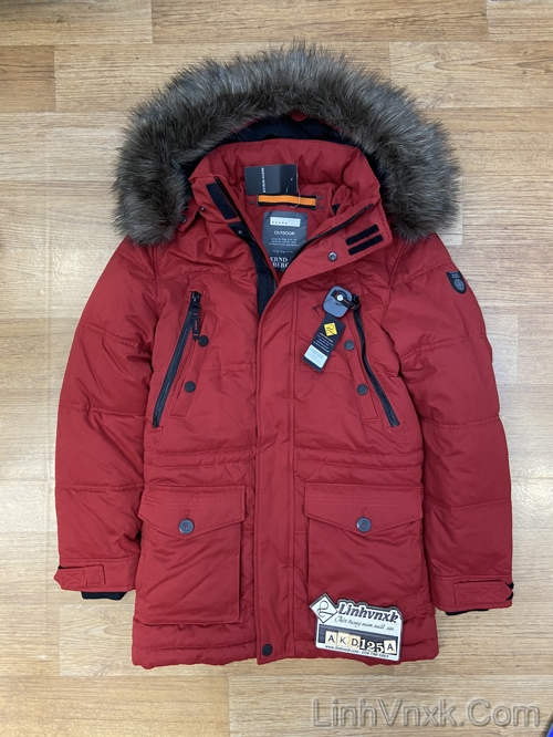 Áo khoác parka đi tuyết màu đỏ