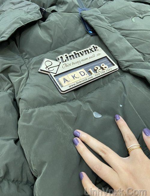 Áo khoác lông vũ chống nước xanh rêu