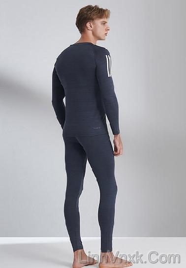 Bộ giữ nhiệt nam Adidas Hàn màu xám