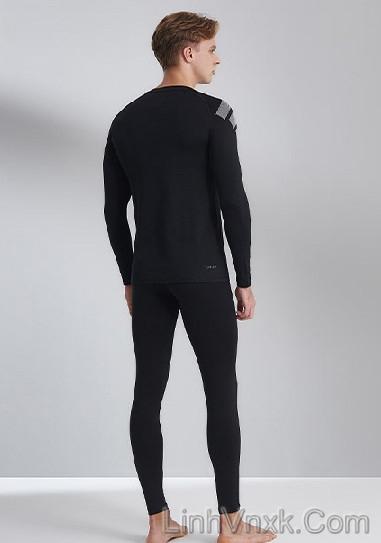 Bộ giữ nhiệt nam Adidas Hàn màu đen