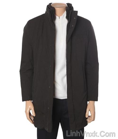 Áo măng tô lông vũ chống nước Pierre Cardin