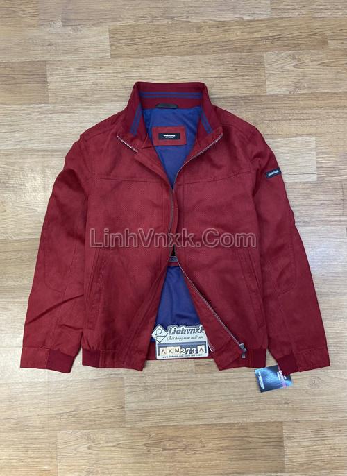 Áo khoác da lộn xuất Đức màu đỏ
