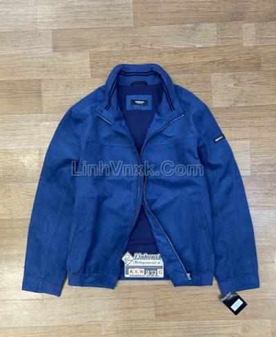 Áo khoác da lộn xuất Đức màu xanh
