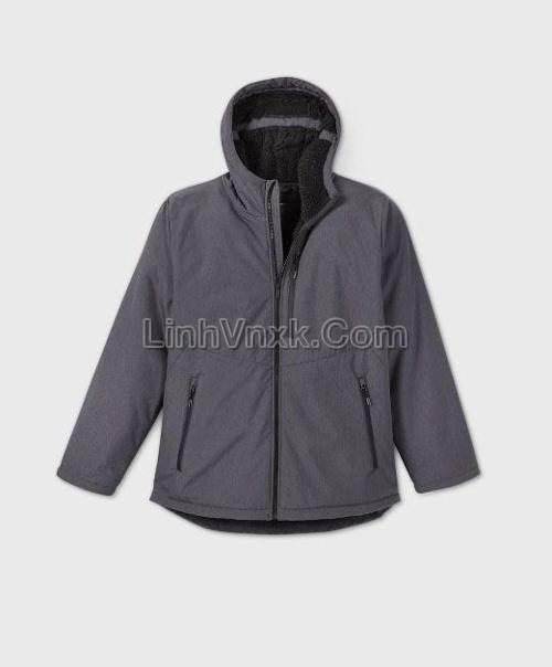 Áo khoác solf shell lót lông kháng nước màu xám