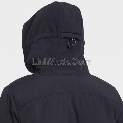 Áo khoác solf shell lót lông kháng nước màu đen
