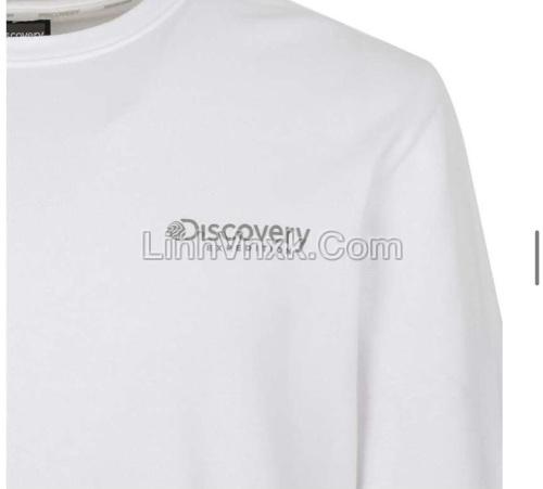 Áo nỉ nam Hàn quốc Discovery màu trắng