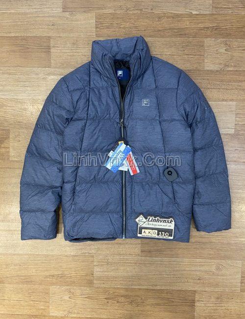 Áo khoác lông vũ Fila xuất khẩu màu xanh