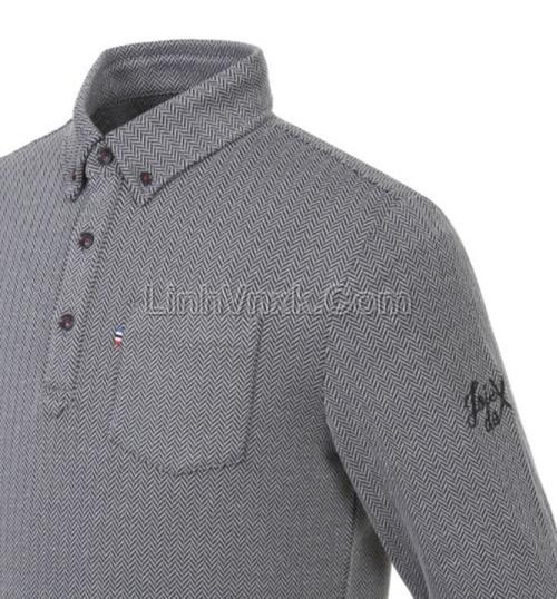 Áo golf dài tay JDX màu ghi xám