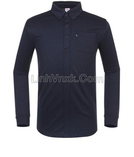Áo golf dài tay JDX màu xanh navy