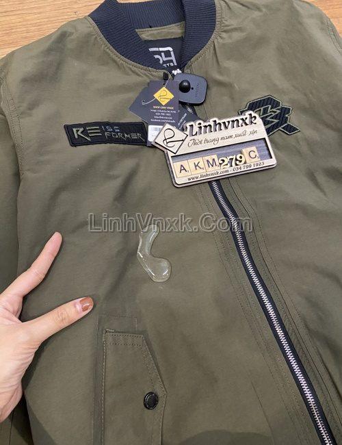áo khoác bomber nam chống nước màu rêu