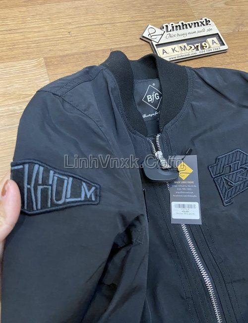 áo khoác bomber nam chống nước màu đen