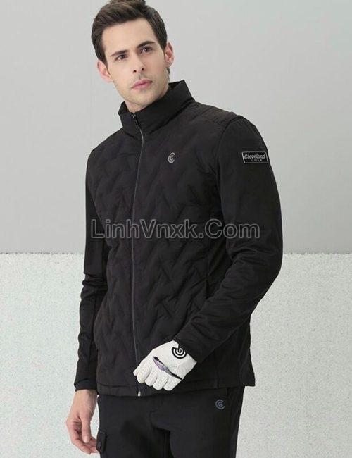 Áo khoác lông vũ golf màu đen