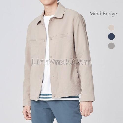 Áo khoác kaki Hàn quốc Mind Bridge màu be