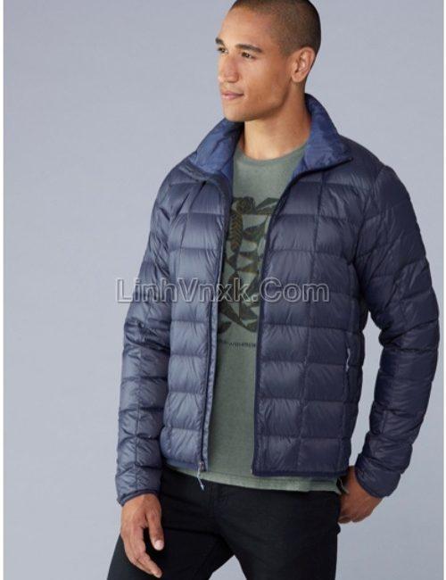Áo khoác lông vũ gấp gọn xuất Mỹ màu xanh